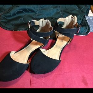 Shoes - Ankle Strap Flats